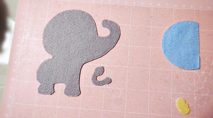 Elefante de Feltro Passo a Passo - como cortar feltro sem tratamento