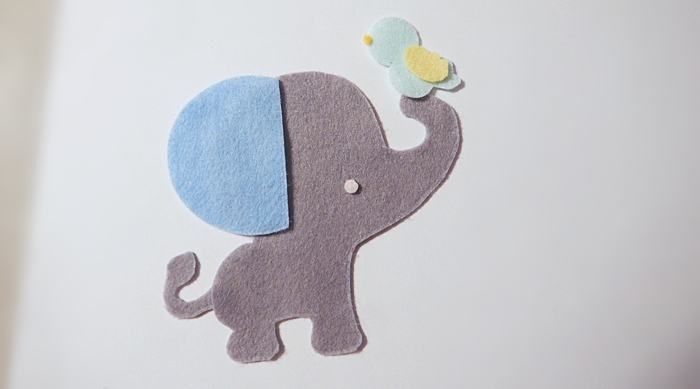 Elefante de Feltro Passo a Passo