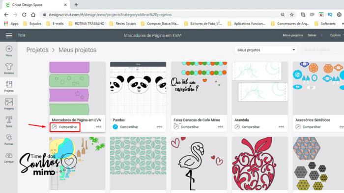 Design Space – Conheça a Comunidade Cricut - compartilhamento de arquivo