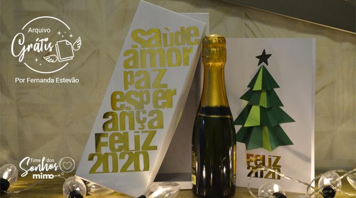 Presente de Natal: Como Fazer Caixa para Espumante