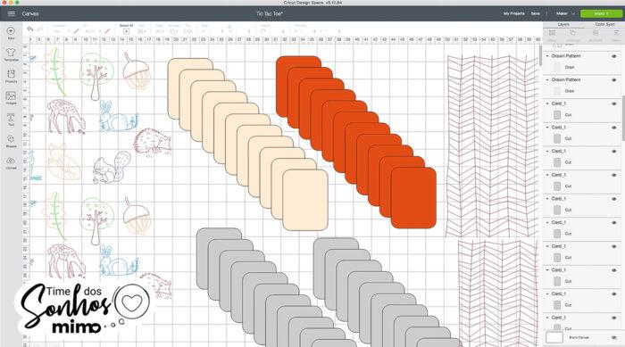 Duplique os cartões no Design Space