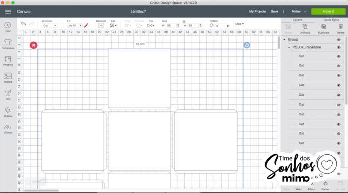 Abra o arquivo da Caixa no Design Space