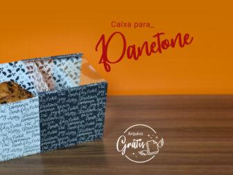 Como Fazer Caixa de Panetone de Natal - Molde Grátis Cricut