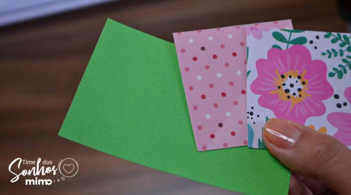 Efeito que a laminação feita com o BOPPglitter cria no papel