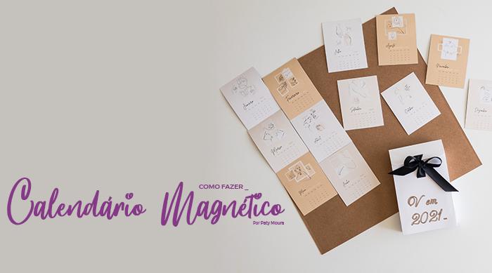 Máquina de Fazer Imãs - DIY Calendário Personalizado de Geladeira