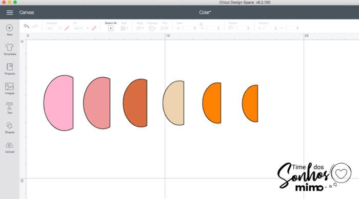 Mude as cores das peças para as cores que você vai usar