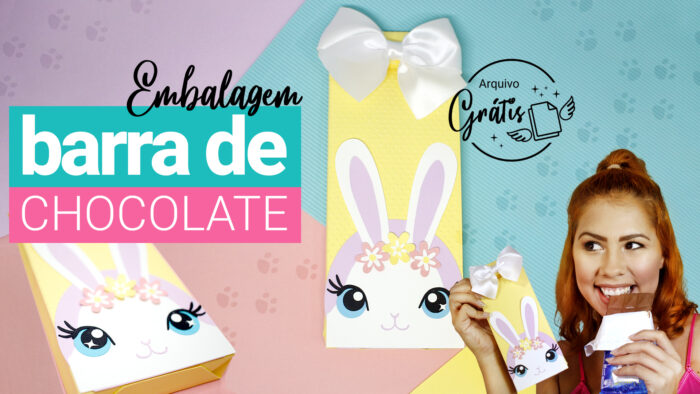 Lembrancinha Personalizada de Páscoa - Caixa para Barra de Chocolate