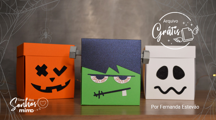 Trio de Caixa Explosivas de Halloween