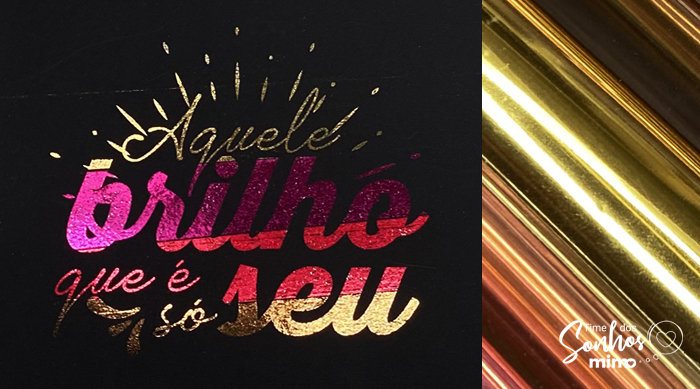 Lettering com hot stamping