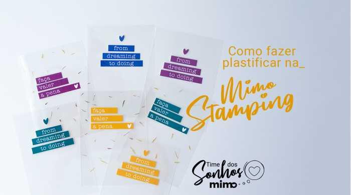 Plastificadora: Como Fazer Plastificação na Mimo Stamping