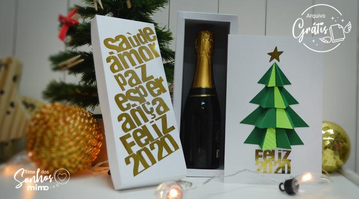 Presentes de Natal: Como Fazer Caixa para Espumante com Hot Stamping