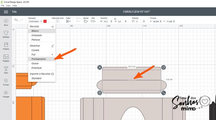 Mude as linhas internas do arquivo para a opção Ponteamento