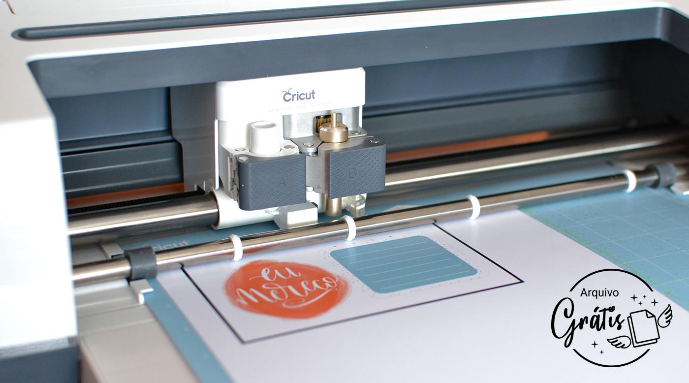 Siga as instruções pra imprimir e cortar