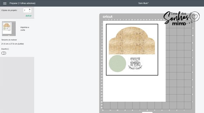 Imprima as peças que irão decorar o porta tempero em uma folha A4 com impressora a laser