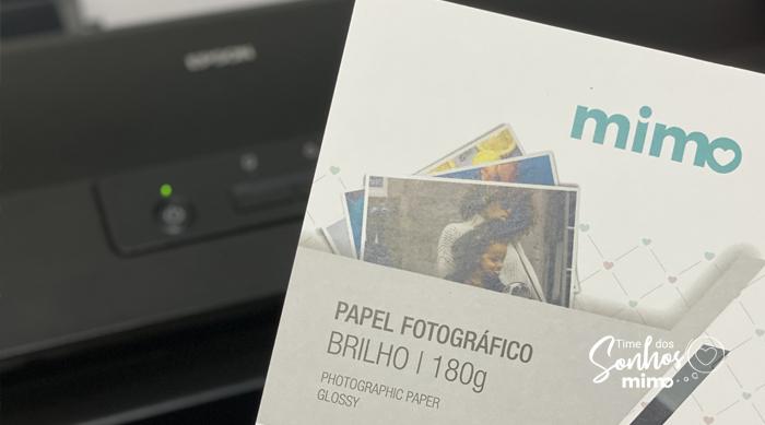 Imprima a foto e o recado que você quer deixar para a mãe no papel fotográfico Mimo