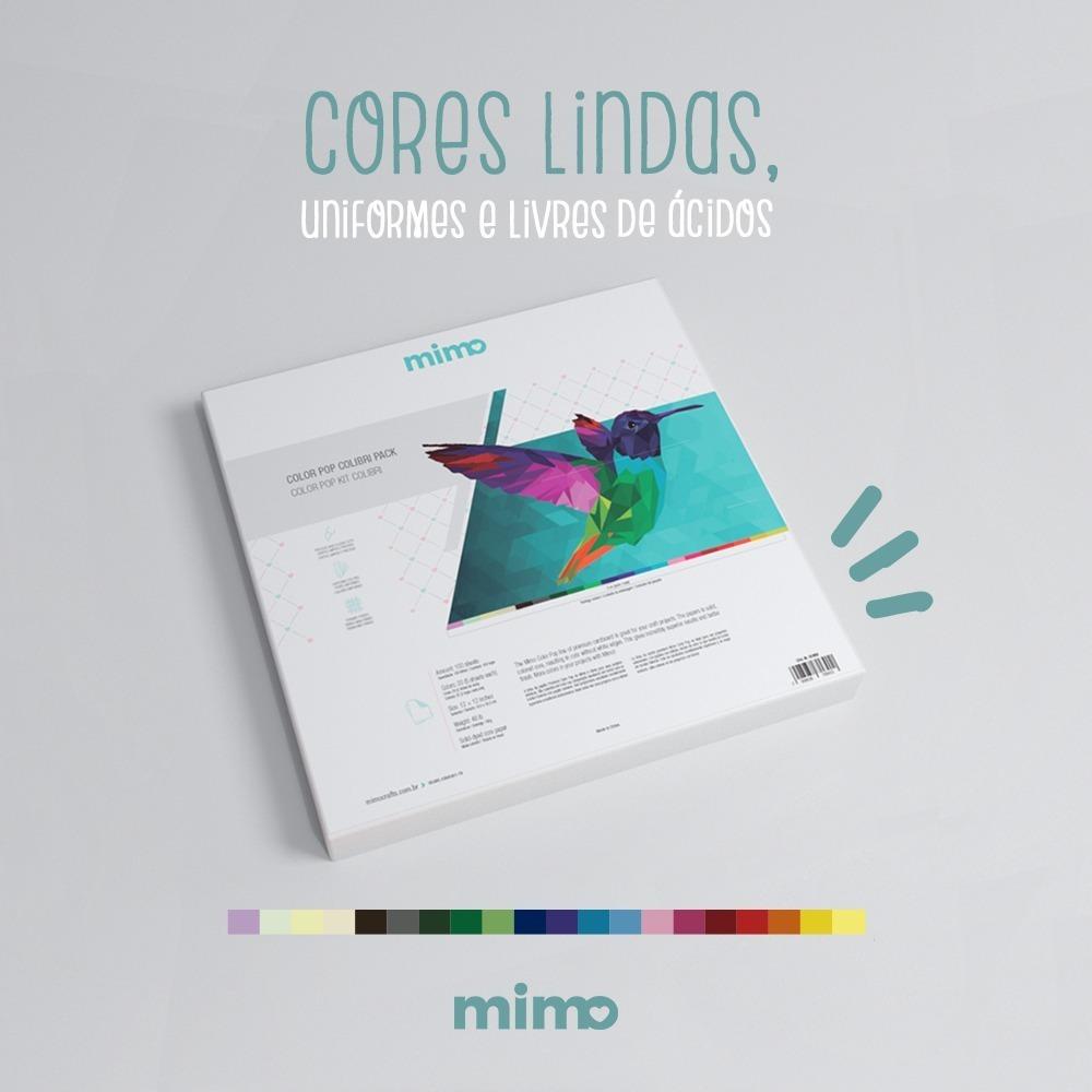 Conheça o Kit Colibri de Papel Color Pop - Mimo