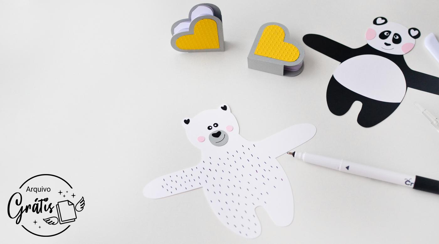 Risquinhos do Urso Polar feitos com a Caneta de Gel Preta Cricut