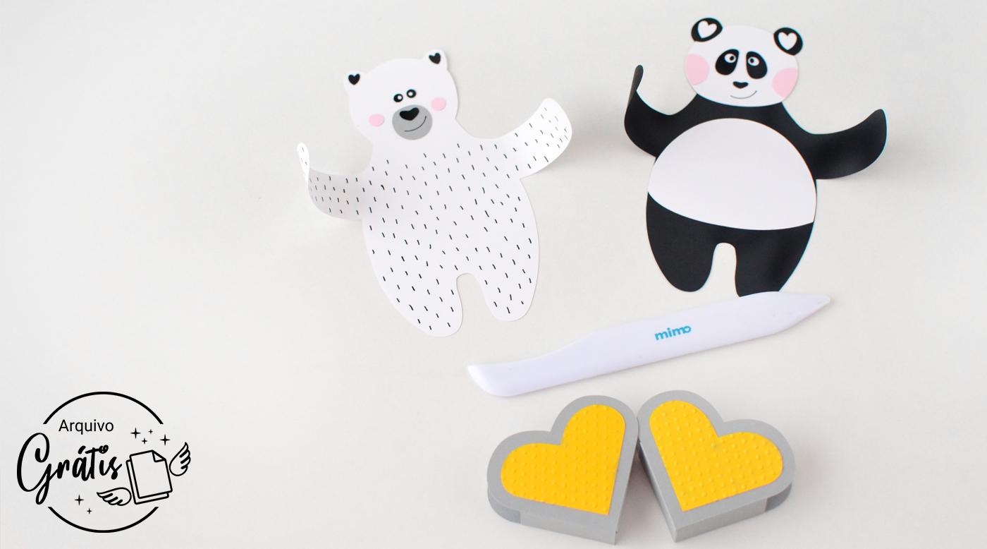 Quebre as fibras dos ursos de papel com o Vincador Mimo