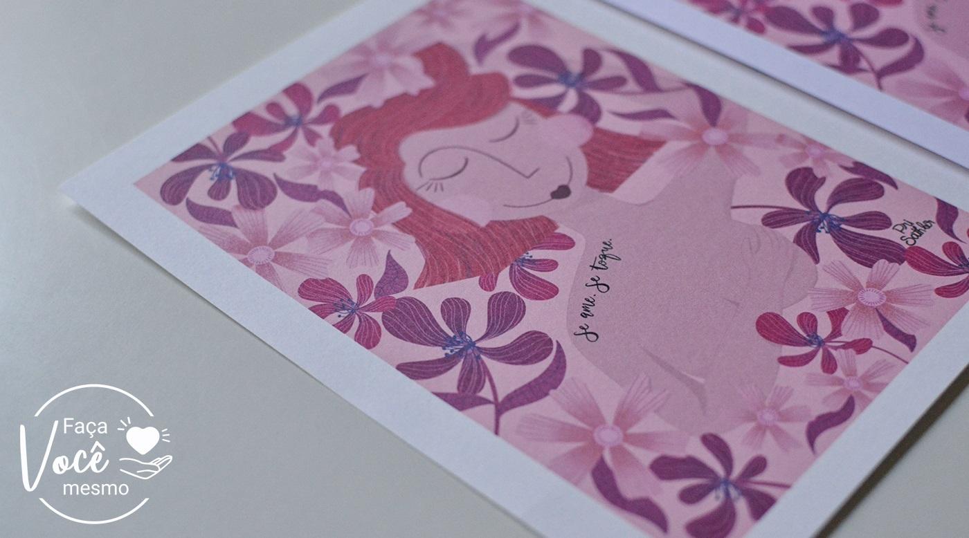 Impressão realizada no papel colorido Color Pop Mimo