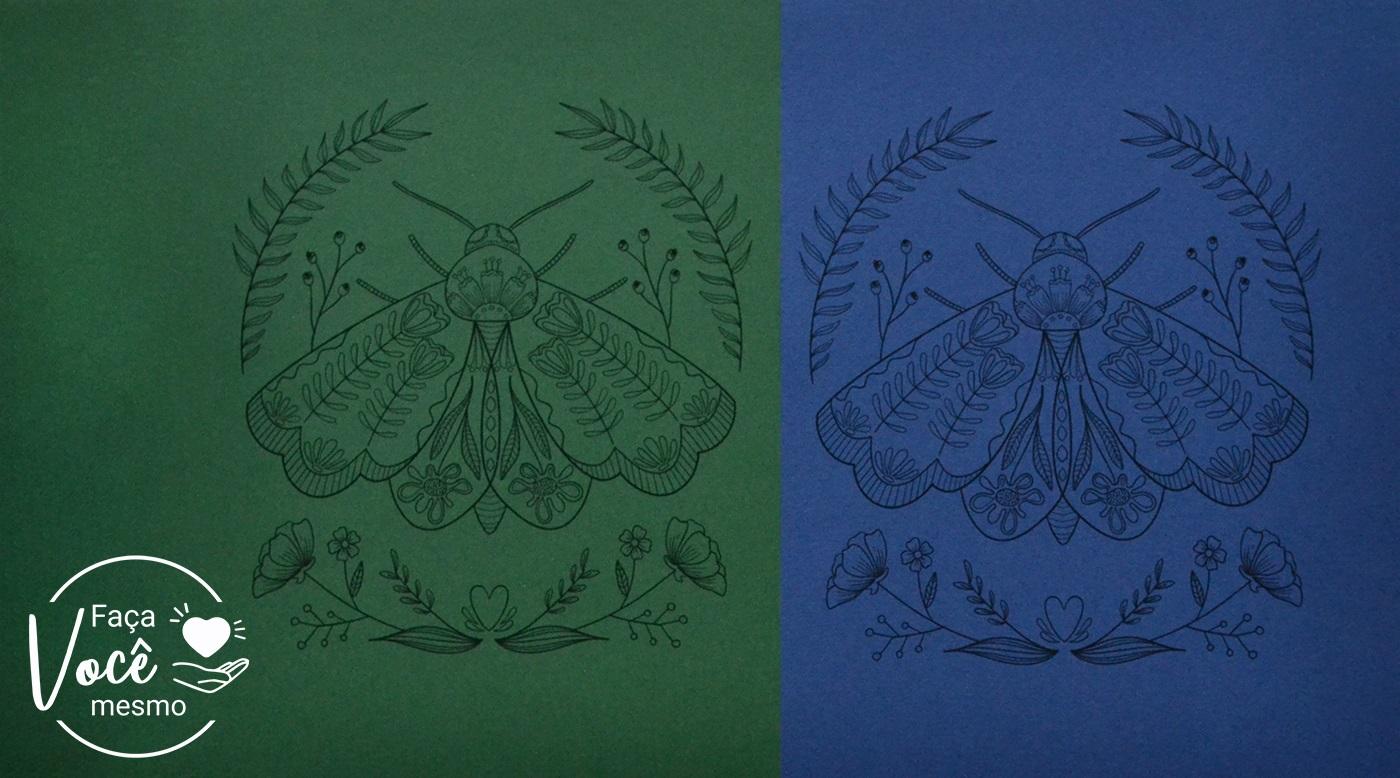 Impressão com Alto Contraste em Papel Colorido