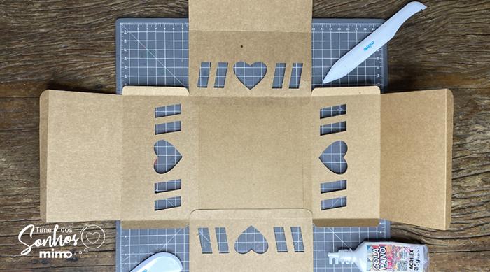 Montagem Caixa explosão para Bolo