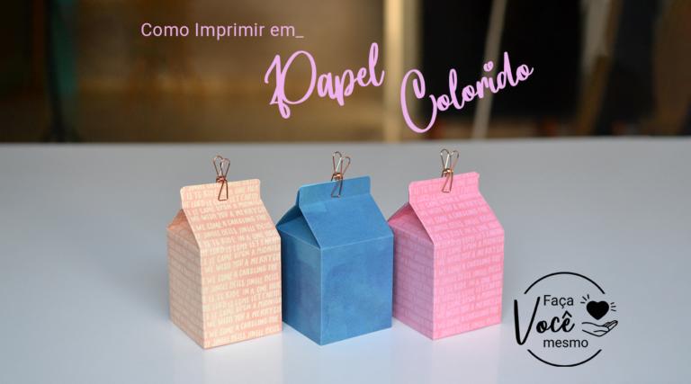 Como Imprimir em Papel Colorido – Color Pop Mimo