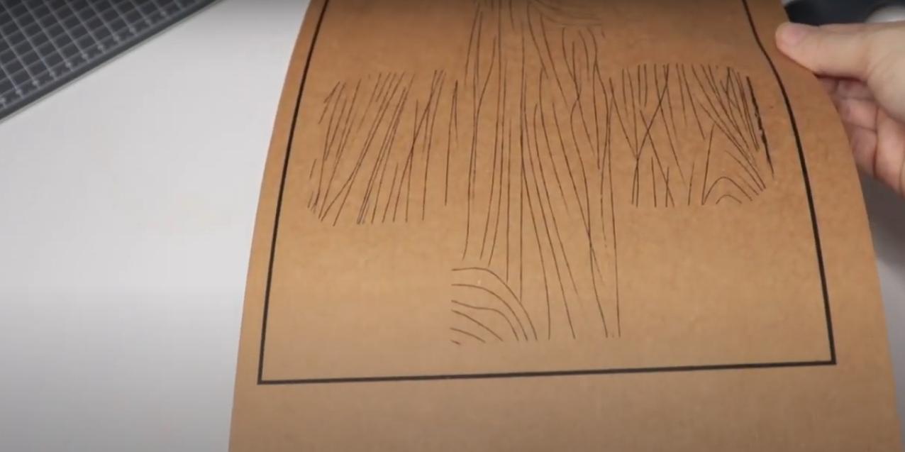 Impressão do Papel Kraft