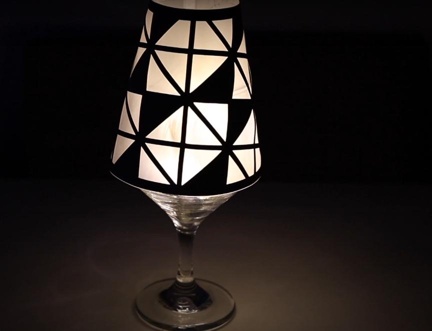 Taças Luminárias DIY com Papel Vegetal