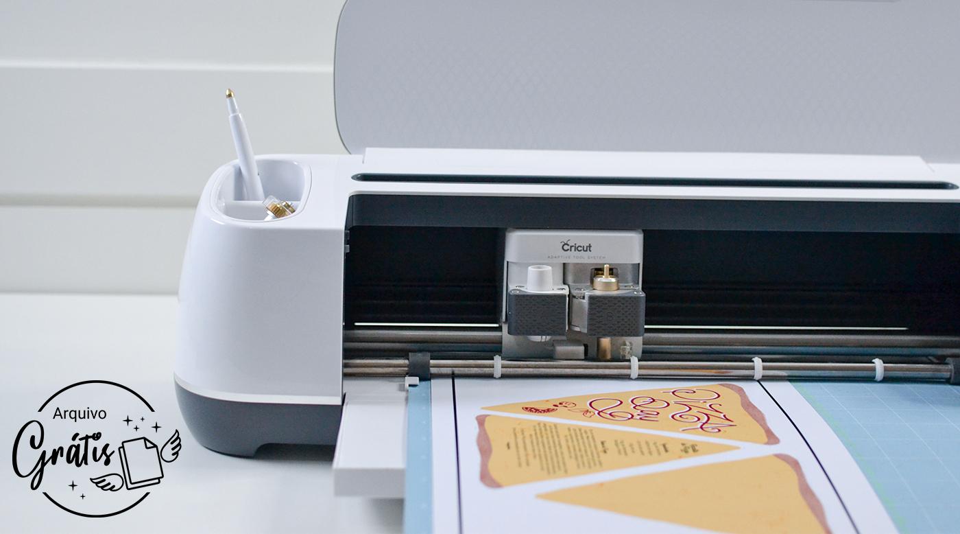 Cricut Maker cortando papel impresso