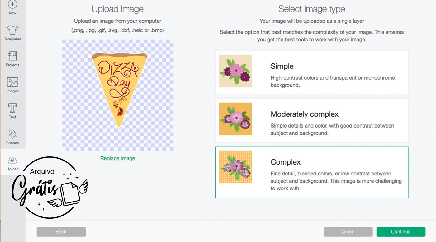 Arquivo dos Cartões da Caixa Pizza em PNG