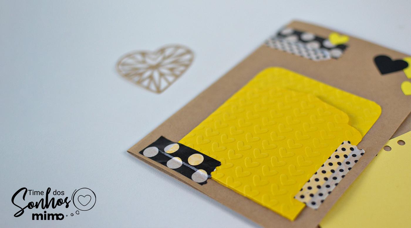 Cartão Kraft Amarelo - O Melhor Papel para Scrapbooking