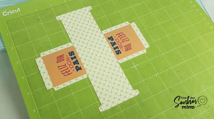 Montagem da Caixinha e Base de Corte - Print and Cut na Cricut